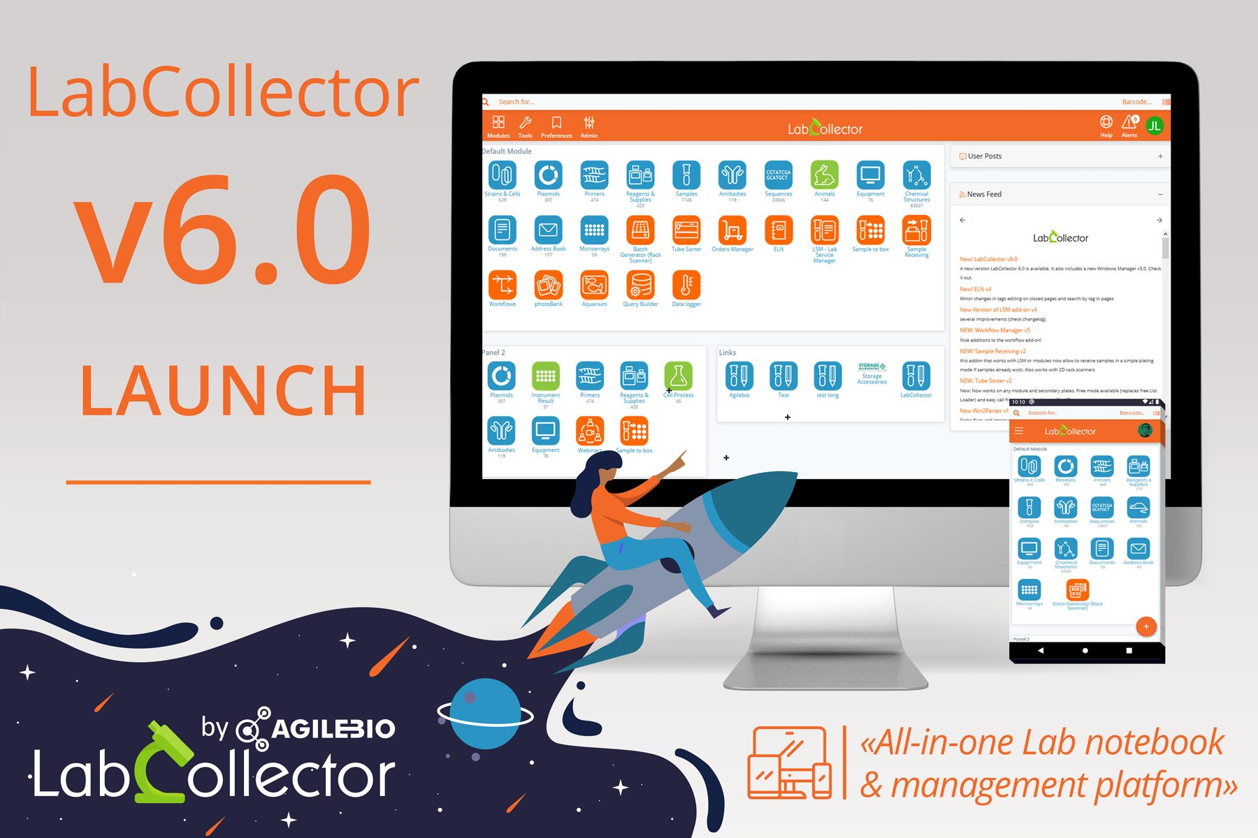 Read more about the article Launch of the new LabCollector v6.0!