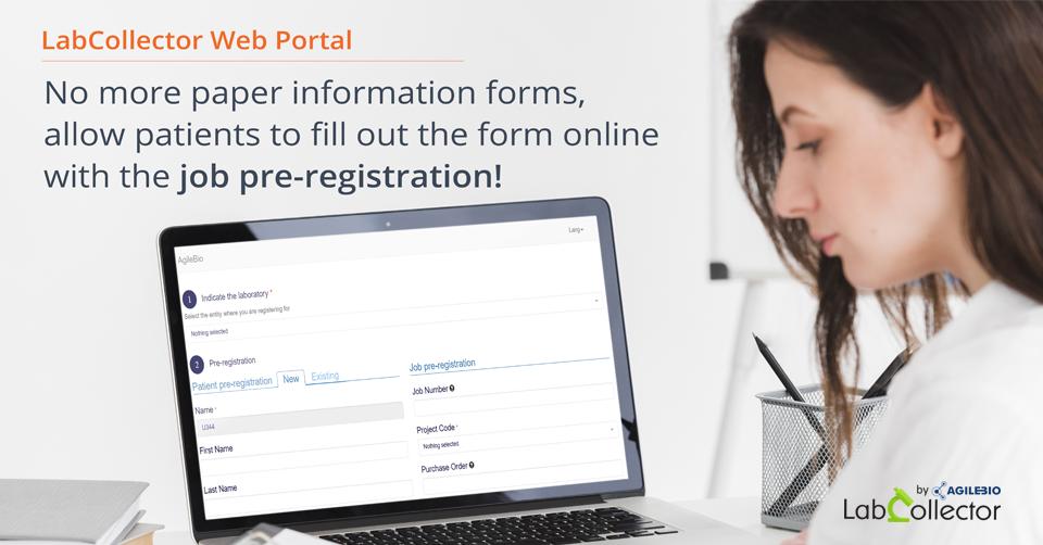 Read more about the article LabCollector Web Portal: Job Pre-Registration