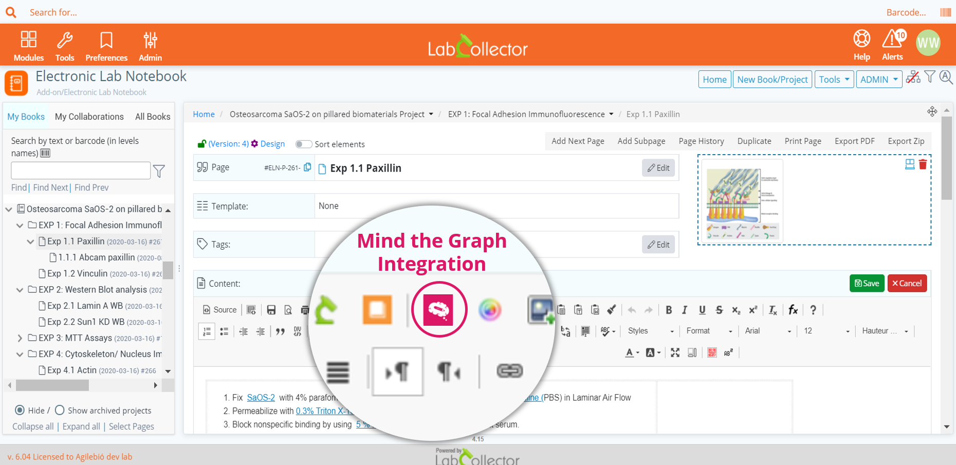 LabCollector ELN and Mind the Graph integration